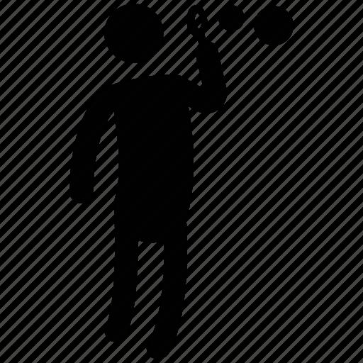 boy raising bubble, bubbles, child, family, man, playing, silhouette icon