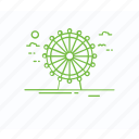 ferris wheel, giant wheel, london eye, london landmark, tourist attraction icon