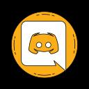 communication, discord, logo, media, orange, social icon