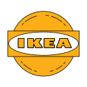 forniture, ikea, logo, orange icon