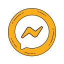 chat, communication, logo, message, messenger, orange icon