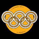 games, logo, olympics, orange, sport icon