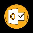 logo, media, orange, outlook, social icon