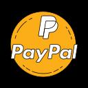 bank, brand, creditcard, logo, orange, paypal icon