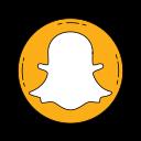 communication, logo, media, orange, snapchat, social icon