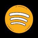 logo, music, network, orange, social, spotify icon