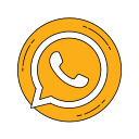 logo, media, network, orange, social, whatsapp icon
