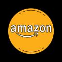amazon, logo, orange icon