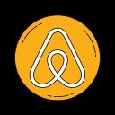 aribnb, logo, network, orange icon