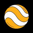 earth, globe, googleearth, logo, orange, planet, world icon