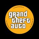 game, gaming, grandtheftauto, gta, logo, orange icon