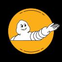 design, guide, logo, michelin, orange icon