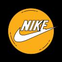 fashion, logo, nike, orange, shoe, shoes icon