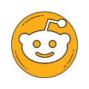 logo, media, network, orange, reddit icon