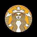 caffè, coffee, logo, orange, starbucks icon
