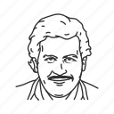 columbia, old man, pablo escobar, avatar, politician, human, man