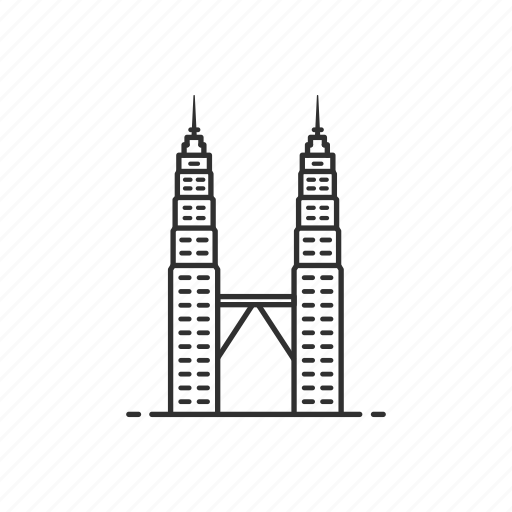 architecture, building, famous, landmark, petronas tower, tower, twin tower icon