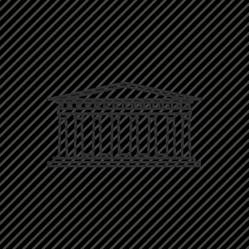athens, building, famous, greece, landmark, monument, parthenon icon