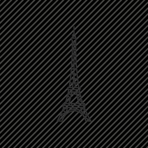 building, eiffel, eiffel tower, famous, landmark, paris, tower icon