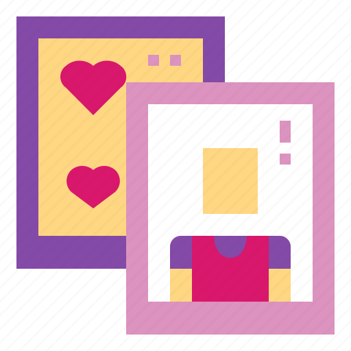 card, heart, love, photo, picture icon