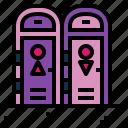 men, restroom, toilet, women icon