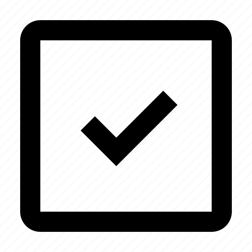 box, check, checkbox, completed, marked icon