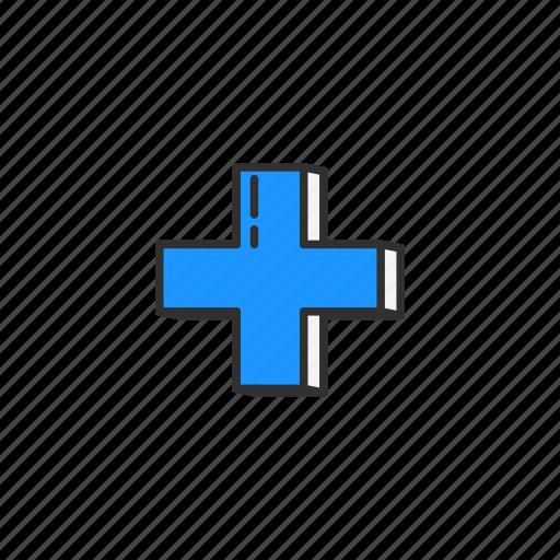 add, cross, plus, zoom in icon
