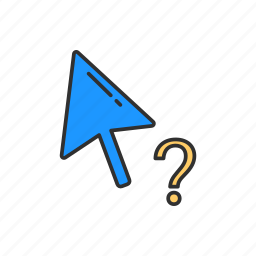 help cursor, navigate, pointer, question mark icon