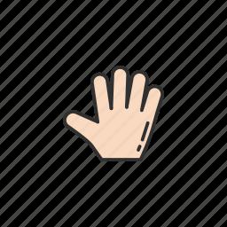 grab cursor, hand, pointer, stop icon