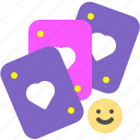cards, entertain, game, happy, jackpot icon