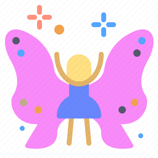 butterfly, character, fairy, transform icon