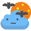 bat, cloud, night, story icon