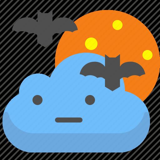 bat, cloud, night, story icon