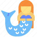 fish, sirene, tales, water icon