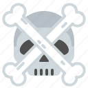 bones, dead, head, skull icon