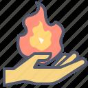fire, hand, holding, mage, magic, summon