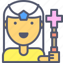 character, enchantress, heal, healer, priestess icon