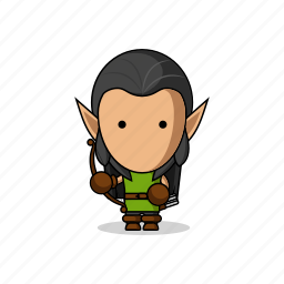 app, archer, avatar, bow, character, elf, elves, fantasy, game, mascot, medieval, people icon