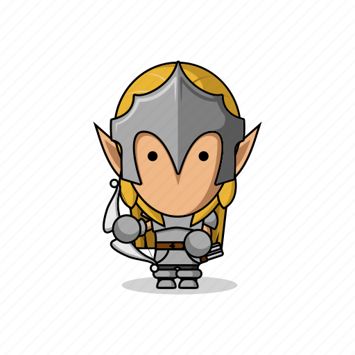 archer, armor, avatar, bow, character, elf, elves, fantasy, game, mascot, medieval, people icon