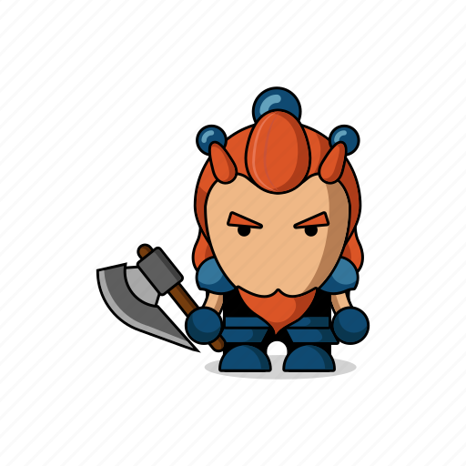armor, avatar, character, dwarf, fantasy, game, mascot, medieval, people, person, sword, warrior icon