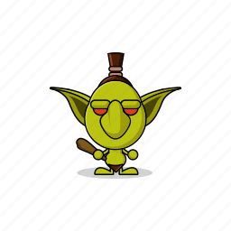 avatar, character, club, dangerous, game, gnome, goblin, gremlin, hammer, hobgoblin, imp, mascot, monster, orc, people, stick, wand icon
