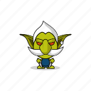 avatar, character, dangerous, game, gnome, goblin, gremlin, hobgoblin, imp, mascot, monster, orc, people icon