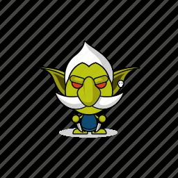 avatar, character, dangerous, game, gnome, goblin, gremlin, hobgoblin, imp, mascot, monster, orc, people icon