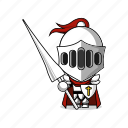 armor, avatar, character, fantasy, fight, game, knight, mascot, medieval, paladin, people, person, prince, shield, sword, warrior icon