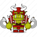 avatar, axes, character, dangerous, fantasy, game, helmet, mascot, medieval, monster, orc, people, person icon