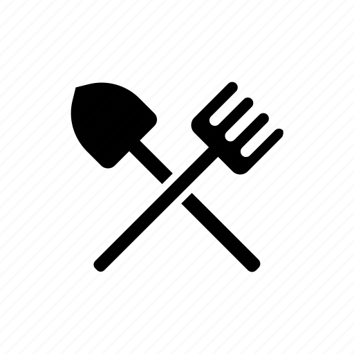 agriculture, equipment, farm, pitchfork, shovel, tool icon