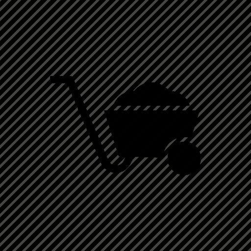 agriculture, farm, farmming, trolley, wheelbarrow icon