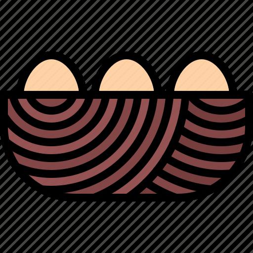 egg, farm, farmer, garden, gardener, nest, perch icon