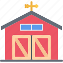 barn, farm, farmer, garden, gardener icon
