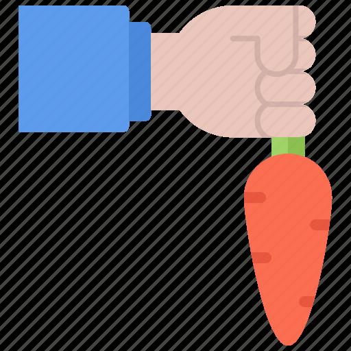 carrot, farm, farmer, garden, gardener, hand icon